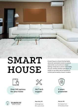 Smart House Technology Offer Poster Modelo de Design