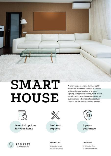 Template di design Smart House Technology Offer Poster