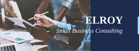 Plantilla de diseño de Small business consulting services Facebook cover