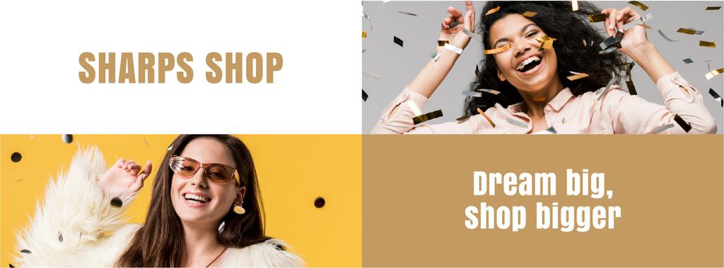 Shop Sale Girl Under Confetti — Créer un visuel