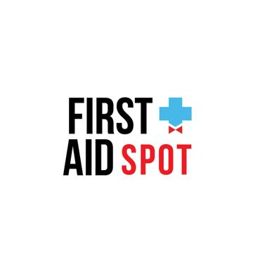 First Aid Spot Cross with Bow | Logo Template