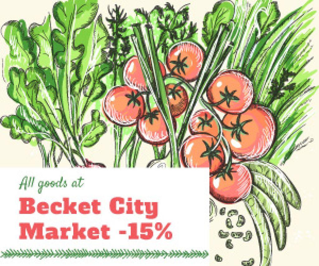 City market sale — Modelo de projeto