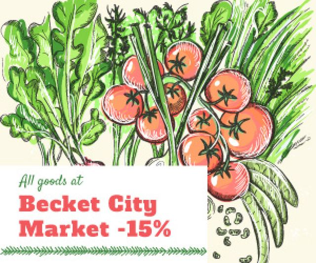 City market sale Medium Rectangle Modelo de Design