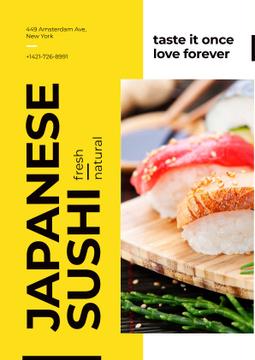 Japanese sushi advertisement