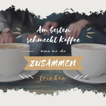 Cafeteria Advertisement with Hot Coffee Cups | Square Video Template