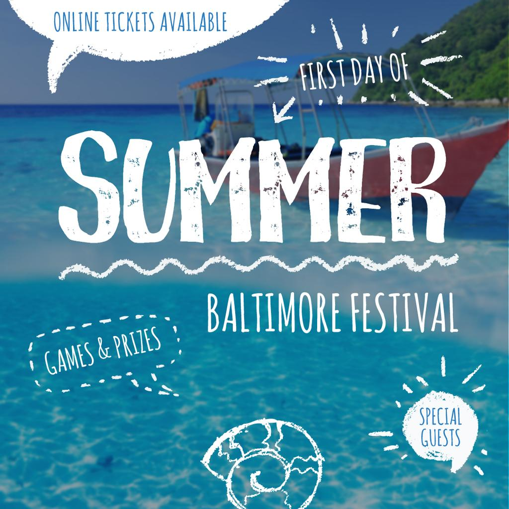 Summer Baltimore Festival invitation — Создать дизайн