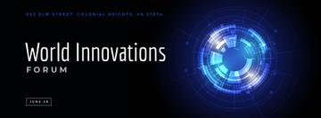 Innovations forum invitation on Glowing cyber circle
