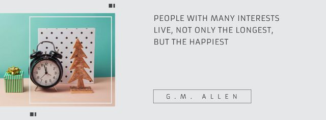 Modèle de visuel Citation about people with many interests - Facebook cover