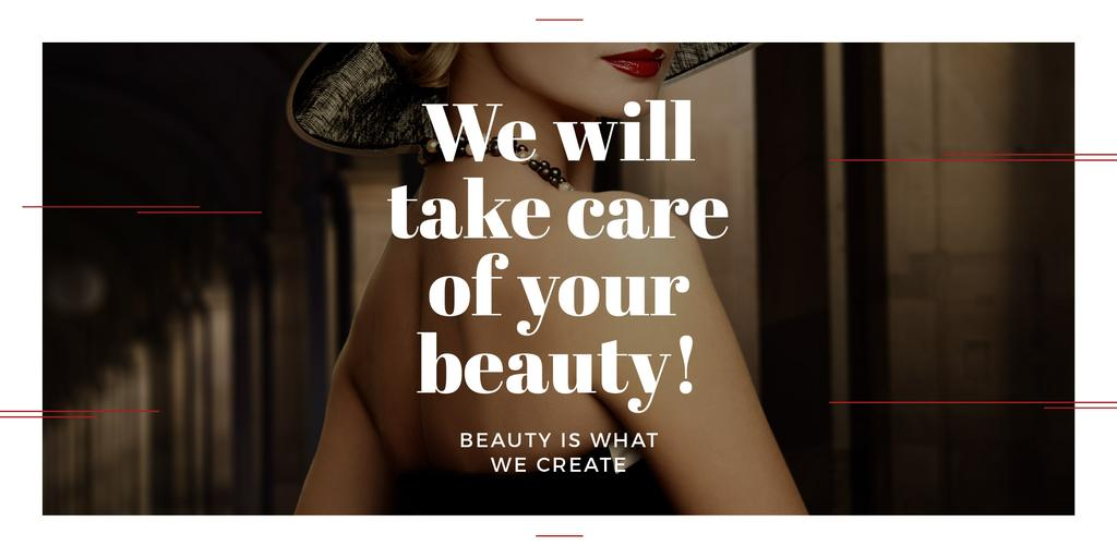 Citation about care of beauty — Створити дизайн