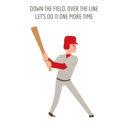 Man playing baseball Animated Post Design Template