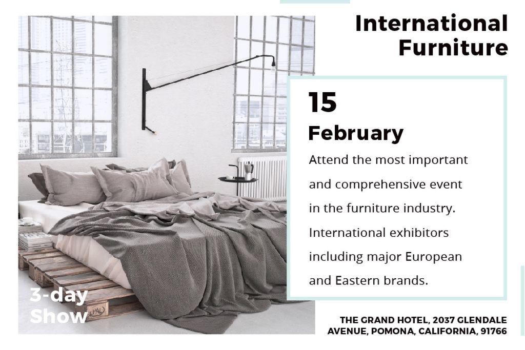 International furniture show Announcement — ein Design erstellen