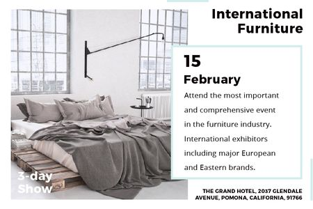 Template di design International furniture show Announcement Gift Certificate