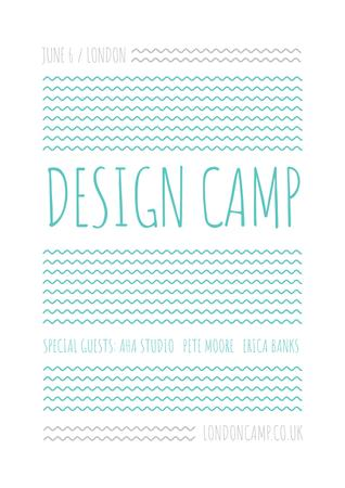 Plantilla de diseño de Design camp in London Poster