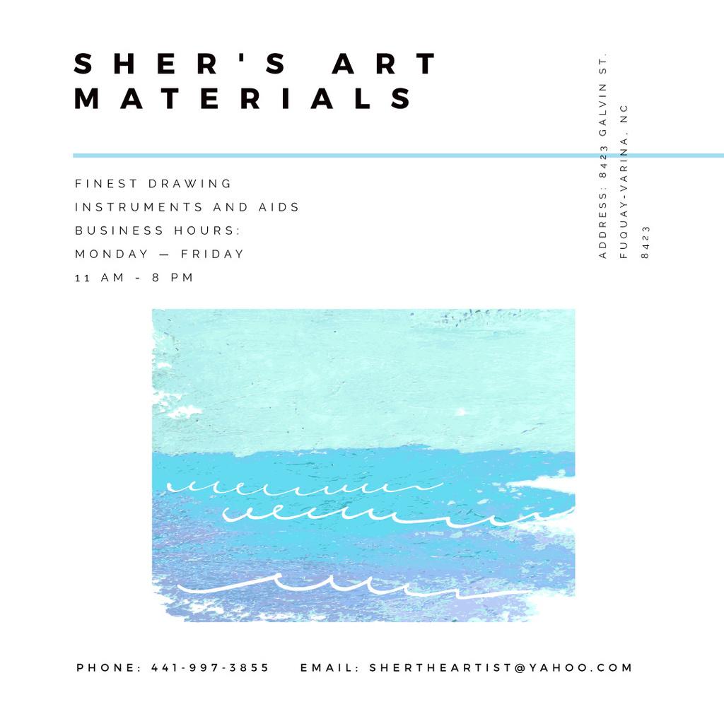 Art Material Store ad with Sea Landscape — Créer un visuel
