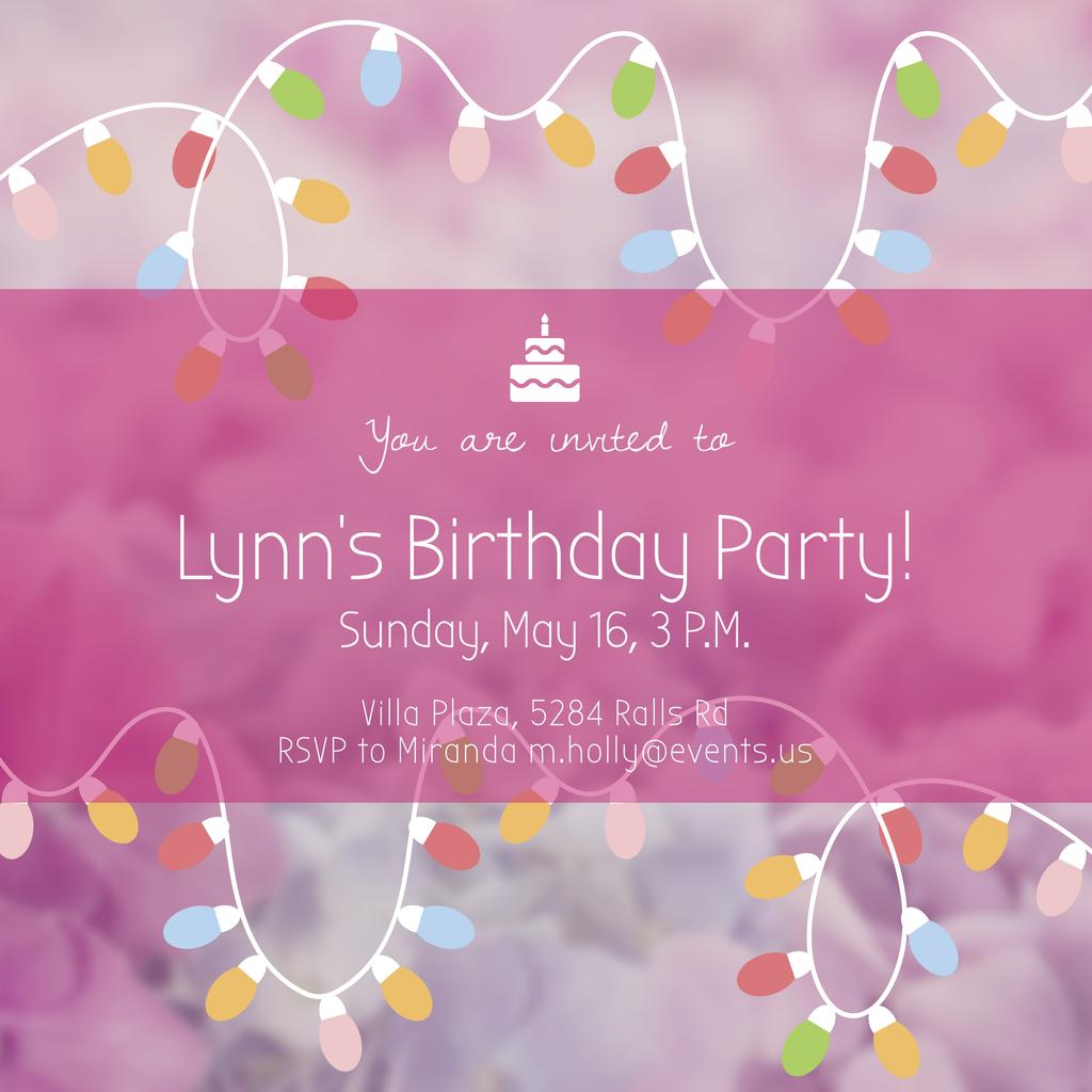 Birthday Party Invitation Create A Design