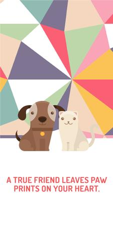 Plantilla de diseño de Pets Quote Cute Dog and Cat Graphic