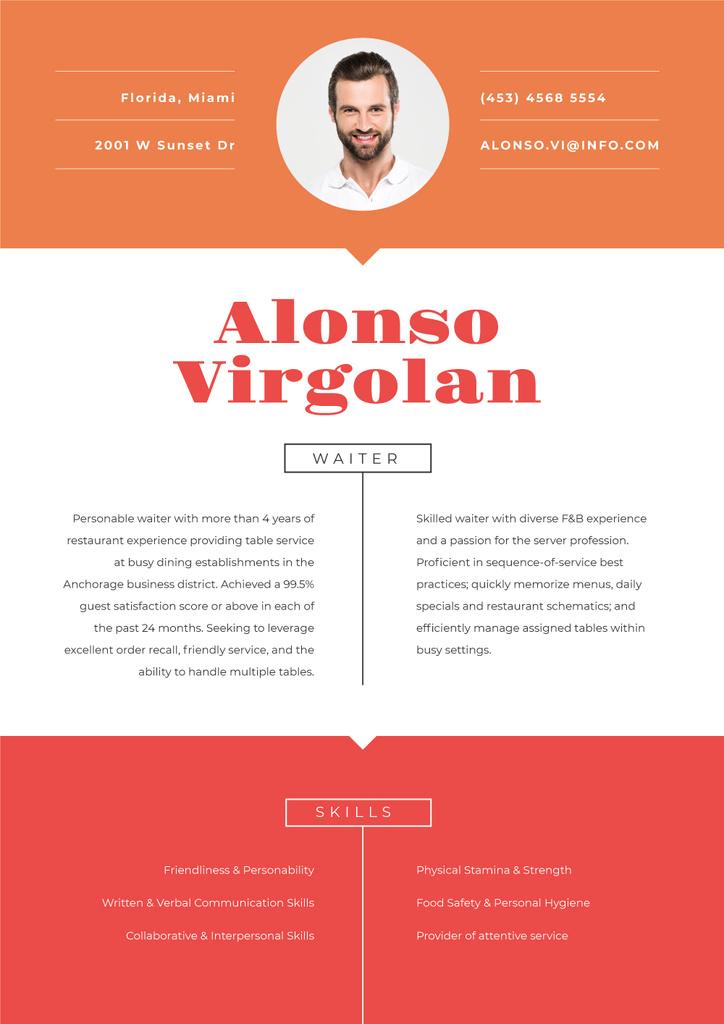 Waiter Professional profile — Créer un visuel