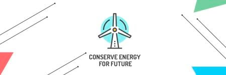 Concept of Conserve energy for future Email header – шаблон для дизайну