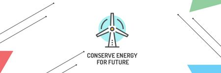 Concept of Conserve energy for future Email header Modelo de Design