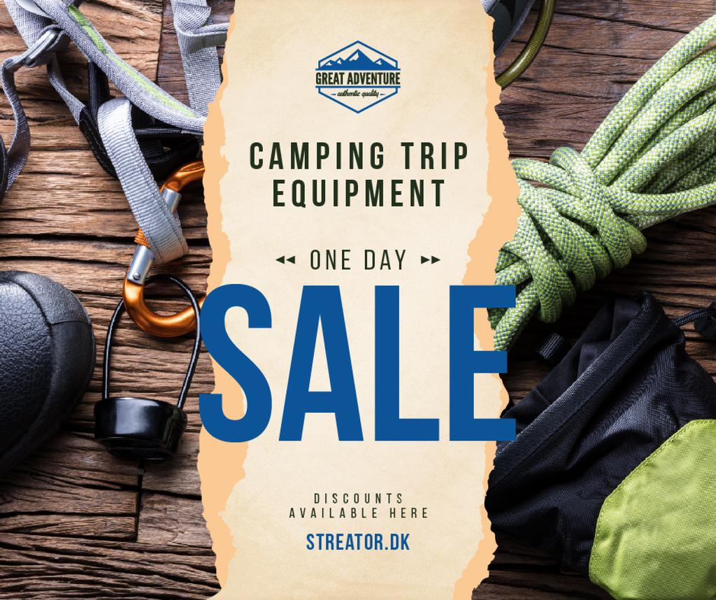 Camping Equipment Offer Travelling Kit — Créer un visuel