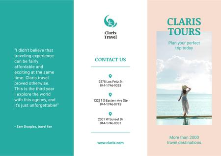 Travel Agency tours offer Brochure Modelo de Design