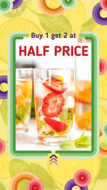 Template di design Summer Drink Offer with Berries Instagram Story