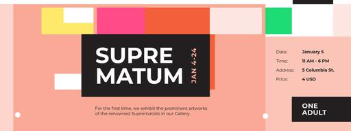 Artworks Exhibition With Abstract Geometry Tickets