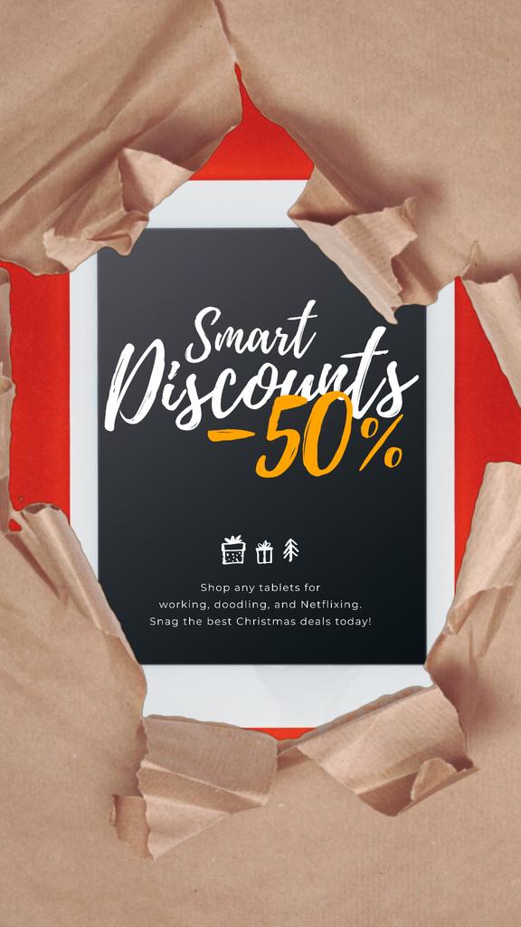 Christmas Discount Digital Tablet in Wrapping Paper — Crear un diseño
