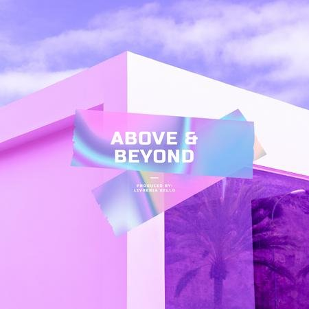 Ontwerpsjabloon van Album Cover van Colourful Gradient over abstract Building