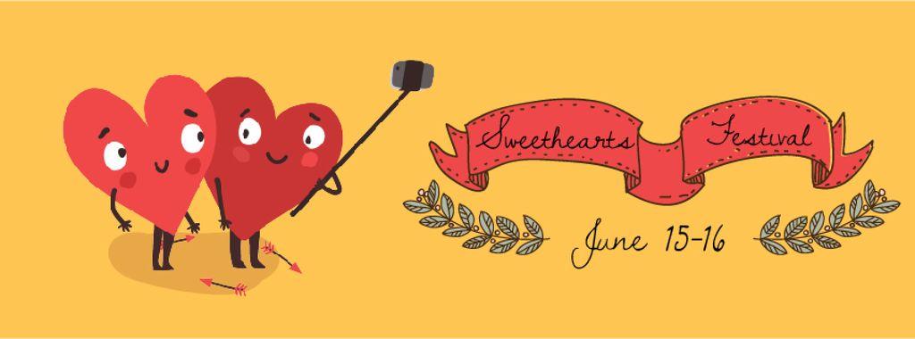 Hearts taking Selfie on Valentine's Day — ein Design erstellen