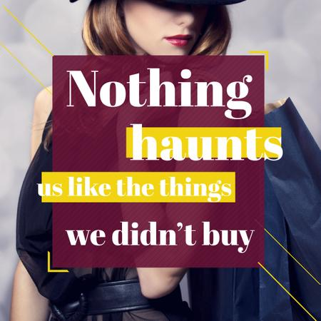 Quotation about Shopping Haunts Instagram – шаблон для дизайну