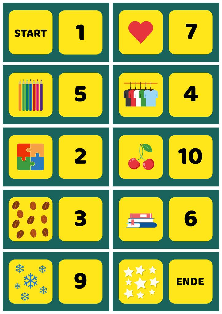 School Chart with Numbers to Count | Poster Template — Crea un design