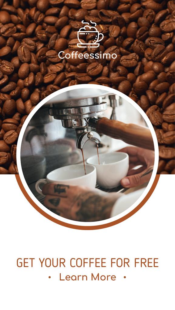 Barista making Espresso in Cafe — Создать дизайн