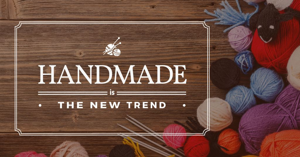 Handmade workshop Annoucement with yarn — Créer un visuel