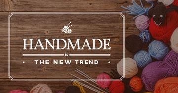 Handmade workshop Annoucement with yarn