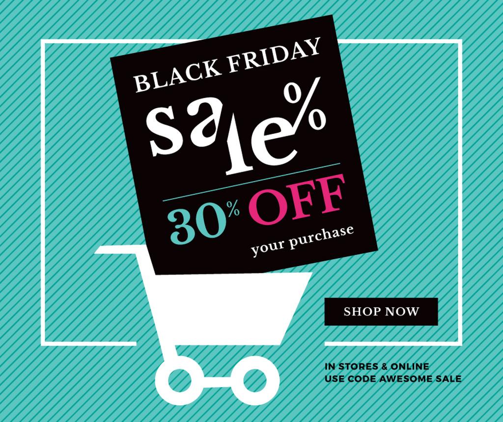 Black Friday Sale Shopping cart — Crear un diseño