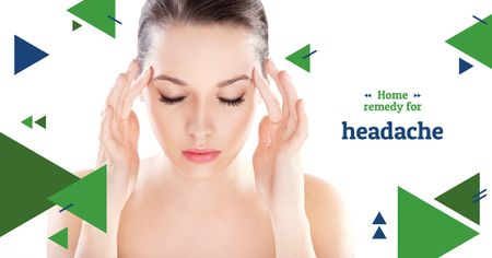 Template di design Woman Suffering from Headache Facebook AD