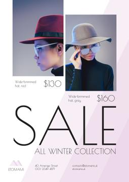 Seasonal Sale Woman Wearing Stylish Hat