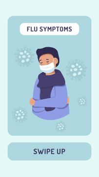 Flu symptoms with Man wearing Mask