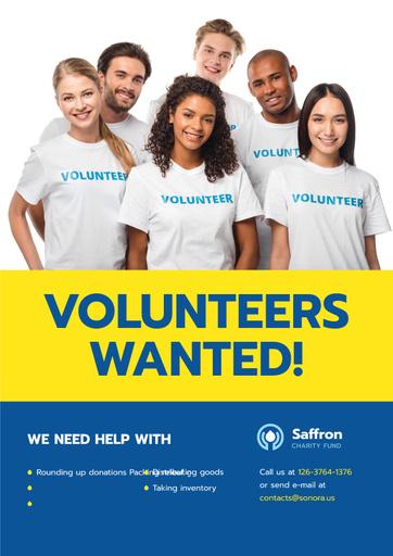 Smiling Team Of Volunteers