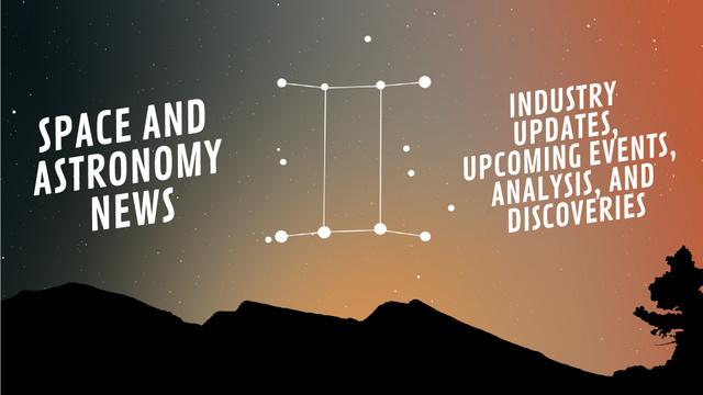 Night sky with Gemini constellation Full HD video Modelo de Design