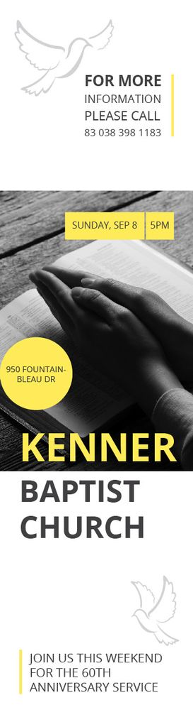 Kenner Baptist Church — Crear un diseño