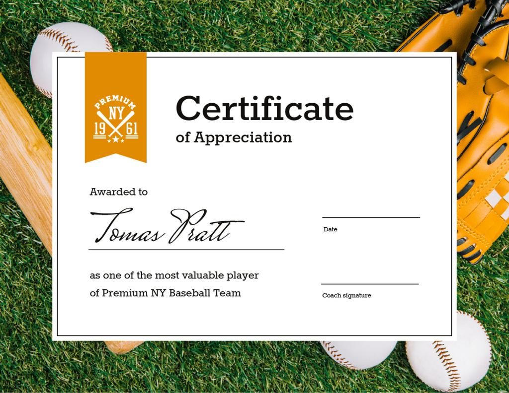 Baseball Player of the month Appreciation — ein Design erstellen