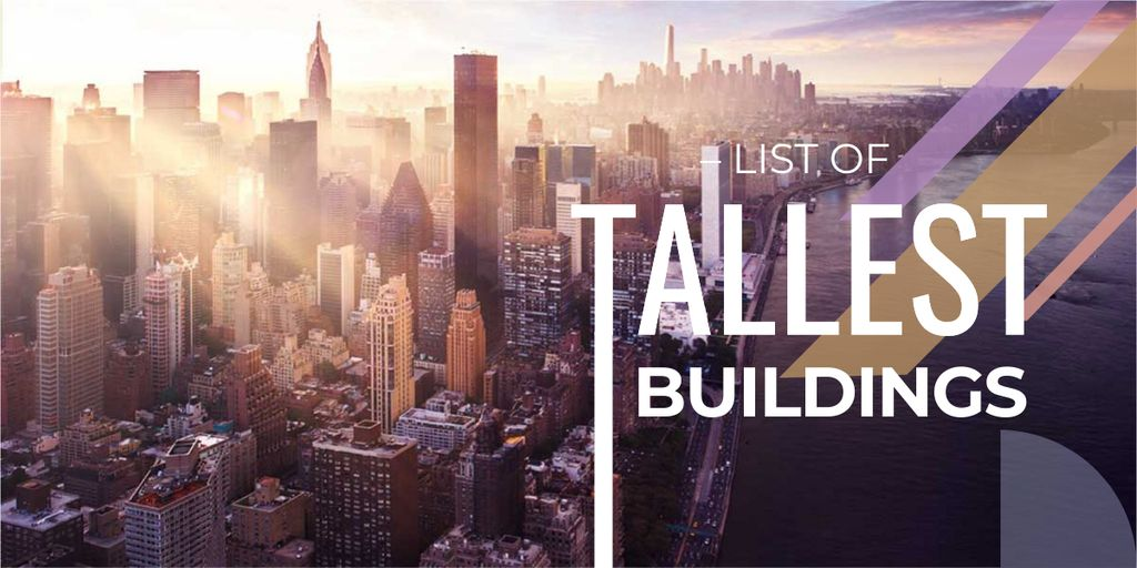 Modèle de visuel list of tallest buildings poster - Image