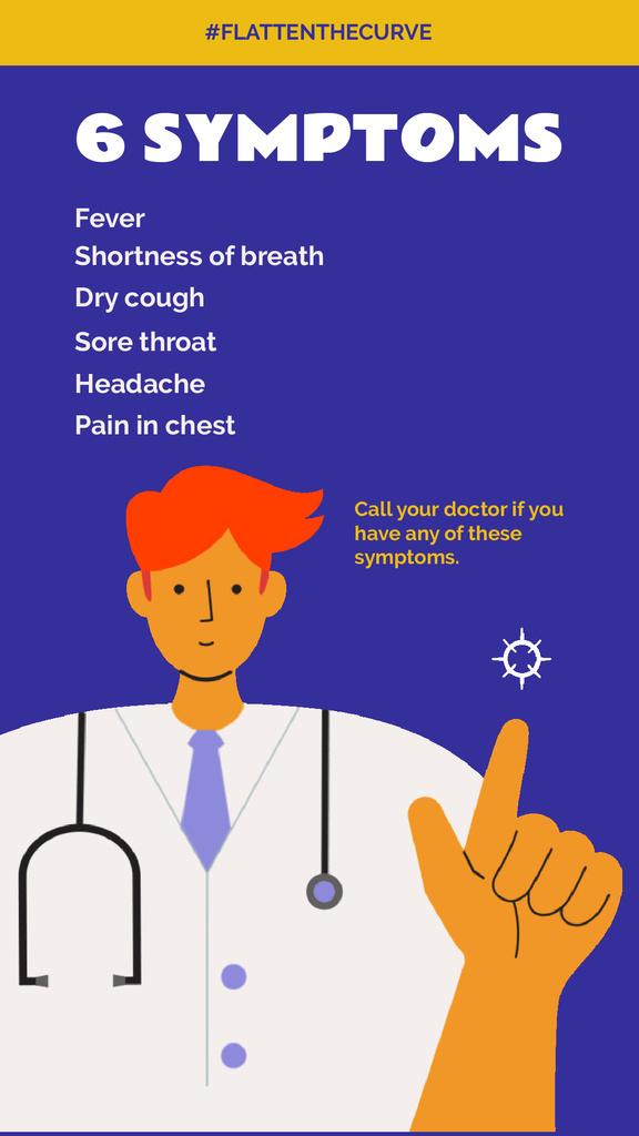 #FlattenTheCurve Coronavirus symptoms with Doctor's advice — Створити дизайн