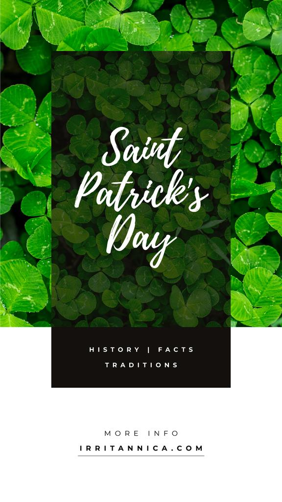 Saint Patrick's Day clover leaves — Create a Design