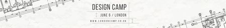 Plantilla de diseño de Design camp in London Leaderboard