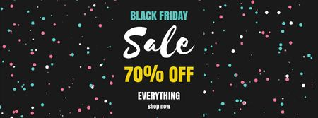 Ontwerpsjabloon van Facebook Video cover van Black Friday Sale on flickering elements