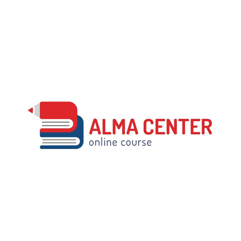 Education Center with Books and Pencil — ein Design erstellen