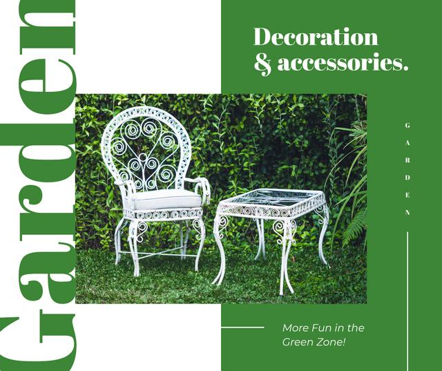 Designvorlage Elegant White garden Furniture für Facebook